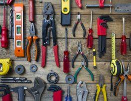 set of plumbing tools