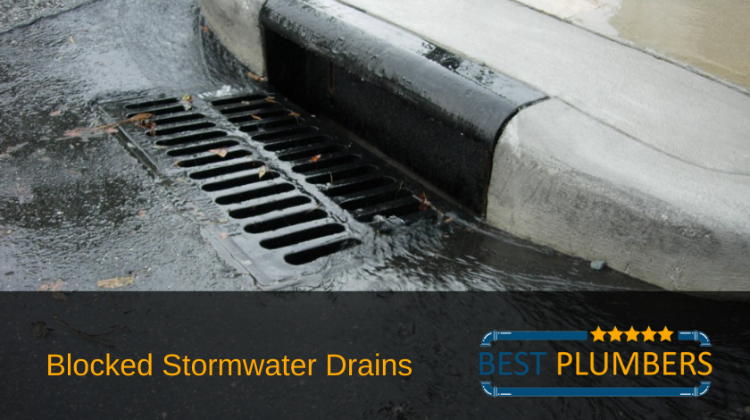 Blocked Stormwater Drain Banner