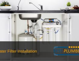 expert water filter installation banner