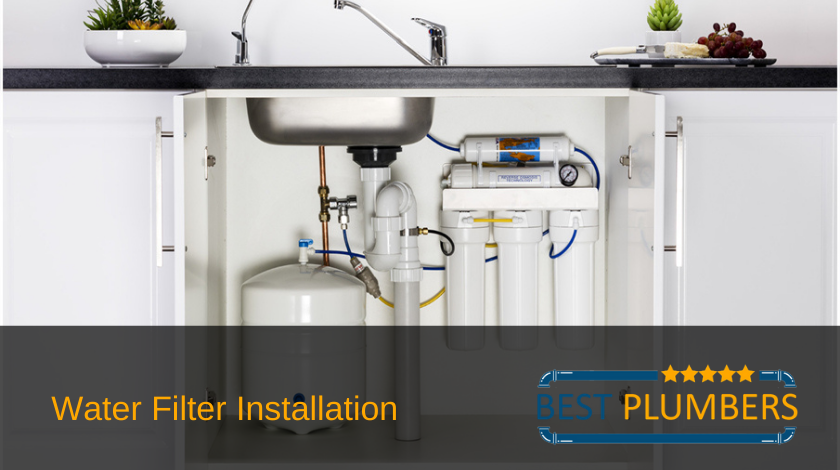 expert water filter installation banner